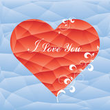 Red Abstract Triangle Geometrical Heart stock illustration