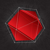 Red abstract triangular shape of crystal Royalty Free Stock Photo