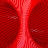 Red Abstract Tunnel Royalty Free Stock Photography