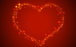 Red abstract valentine background. Royalty Free Stock Image