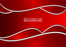 Red abstract vector background with copy space.  Stock Image