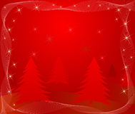 Red abstract vector Christmas Stock Photos