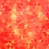 Red abstract vector triangles background Stock Photo