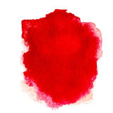 Red  Abstract  watercolor background isolated on white. Water co Royalty Free Stock Photography