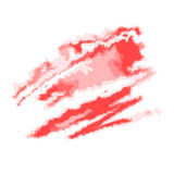 Red abstract watercolor spot. Vector illustration, isolated on white. Royalty Free Stock Images
