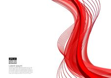 Red abstract wave background modern design with copy space; Vector illustration for your business.  Royalty Free Stock Image