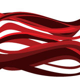 Red Abstract Wave. An abstract illustration of big, bright Red Waves Royalty Free Stock Images