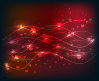 Red abstract wave shiny background Stock Photo