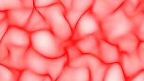 Red abstract waves on white background - smooth shape surface Royalty Free Stock Photos