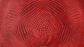 Red abstract wireframe futuristic background, 3d render. Illustration royalty free illustration