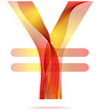 Red abstract Yen sign Stock Photography