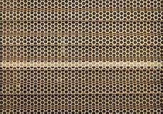 Red abstracta de la abeja del oro inoxidable Foto de archivo libre de regalías