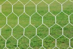 Red abstracta de la meta del fútbol Imagenes de archivo