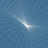 Red abstracta del túnel ilustración del vector 3d stock de ilustración