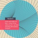 Red abstracta del túnel ilustración del vector 3d Puede ser utilizado como papel pintado dinámico digital, fondo de la tecnología stock de ilustración