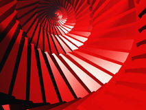 Red abstraction, spiral, ladder Stock Photo