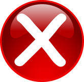 Red access denied button Stock Image