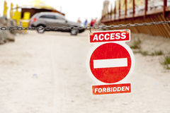 Red access forbidden sign Royalty Free Stock Image
