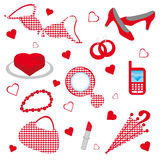 Red accessories Stock Images