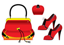 Red accessories Royalty Free Stock Images