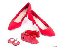 Red accessories Royalty Free Stock Photography