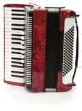 Red Accordion. Hand made clipping path included royalty free stock images