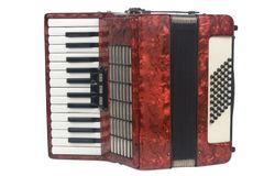 Red Accordion Stock Image