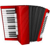 Red accordion Stock Photos