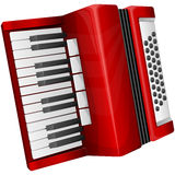 Red accordion Royalty Free Stock Photography