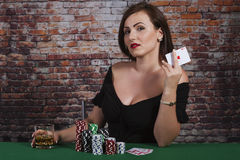 Red Ace in Hand Royalty Free Stock Photos