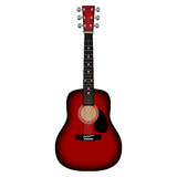 Red acoustic guitar. Royalty Free Stock Image