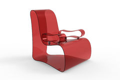 Red Acrylic Chair Royalty Free Stock Images
