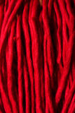 Red acrylic fabric Stock Images