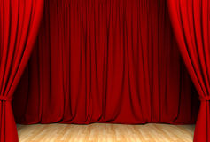 Red act drape. Act drape with red curtains Royalty Free Stock Photos