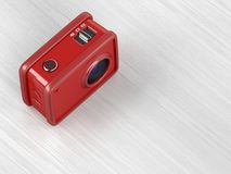 Red action camera Royalty Free Stock Image
