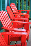 Red Adenak Chairs Royalty Free Stock Photo