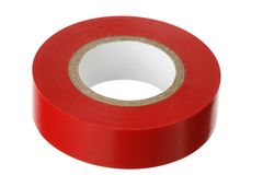 Red adhesive insulating tape Royalty Free Stock Image