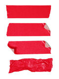 Red adhesive tape Royalty Free Stock Images