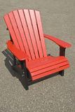 Red Adirondack Chair Royalty Free Stock Photos