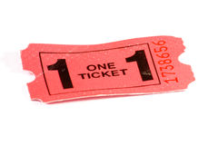 Red Admission ticket Royalty Free Stock Images