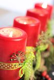 Red Advent Candles Royalty Free Stock Photo