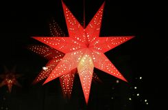 A red advent star Royalty Free Stock Photography