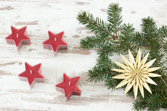 Red advent stars Stock Photo