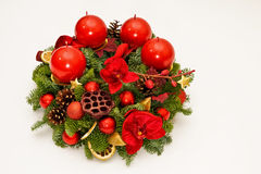 Red advent wreath Stock Images