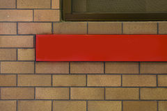 Red advertisement bar outdoor Stock Image