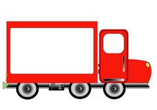 Red Advertising Delivery Royalty Free Stock Images