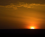 The red african sunrise Royalty Free Stock Photo