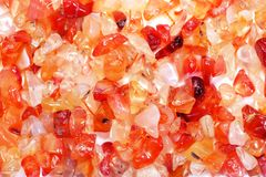 Red agate gem Royalty Free Stock Photos