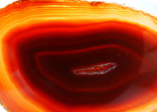 Red agate geode geological crystals Royalty Free Stock Photography