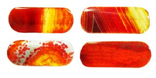 Red agate geological crystal Royalty Free Stock Images